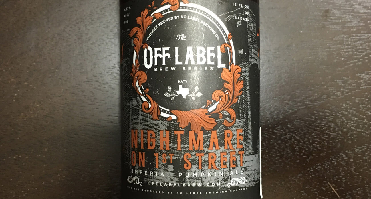 beer-chronicle-houston-craft-beer-review-no-label-nightmare-first-street-pumpkin-ale