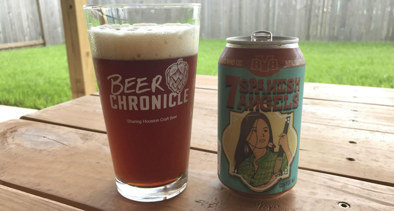 Beer-Chronicle-Houston-Craft-Beer-BVB-7-Spanish-Angels-Beer-In-Pint-Glass-Next-To-Can
