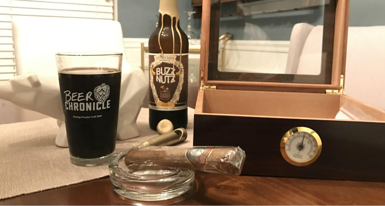 beer-chronicle-houston-craft-beer-review-buzz-nutz-beer-with-cigar