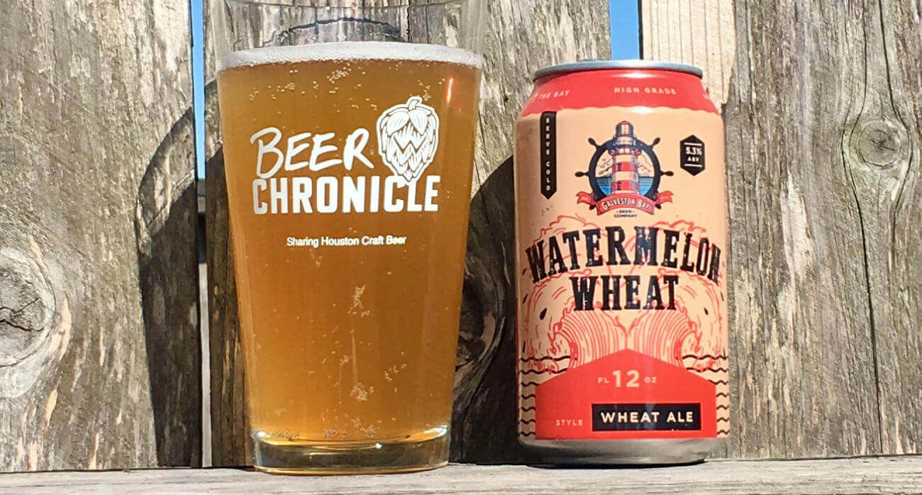 Beer-Chronicle-Houston-Craft-Beer-Review-Galveston-Bay-Watermelon-Wheat-Full-Pint-Glass-Next-To-Can