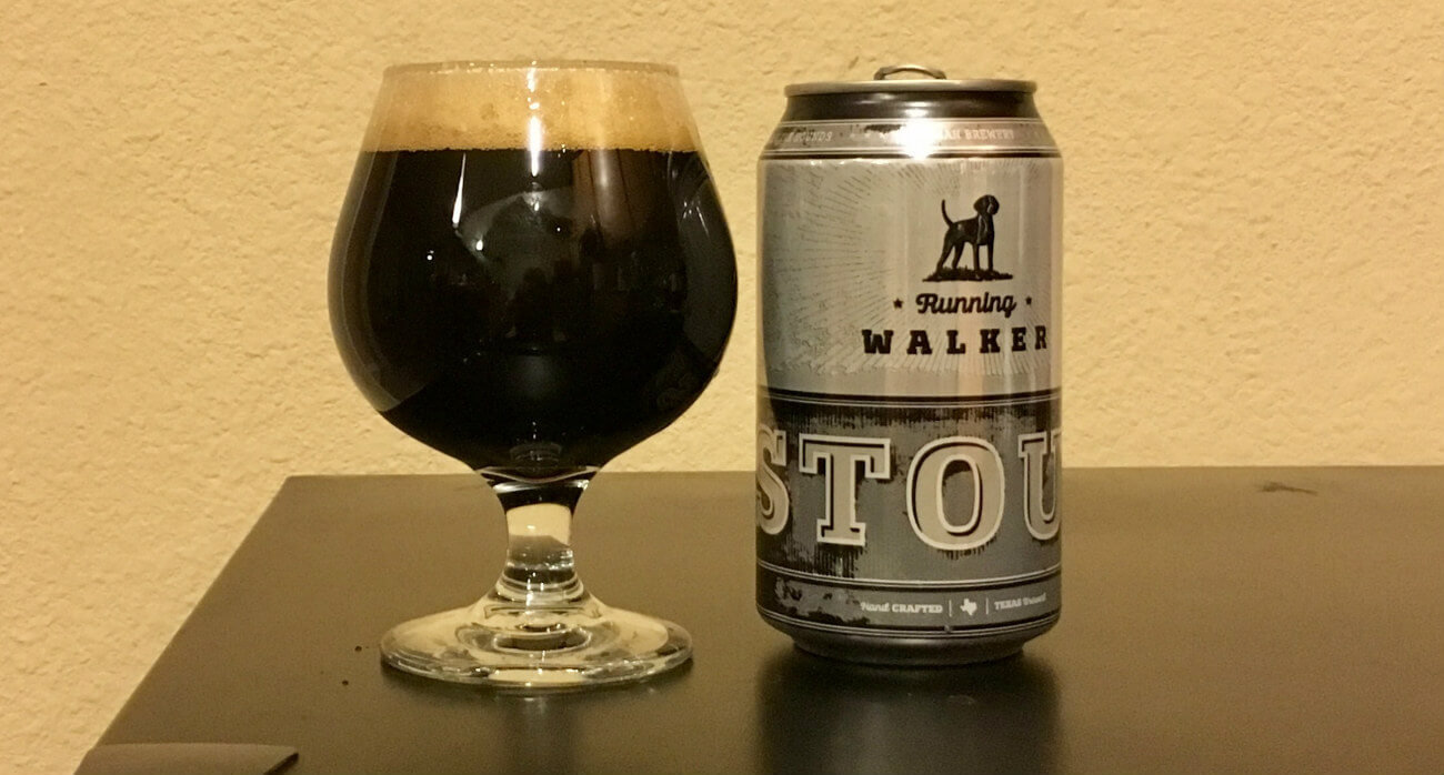 beer-chronicle-houston-craft-beer-review-running-walker-stout-can-next-to-full-snifter-glass