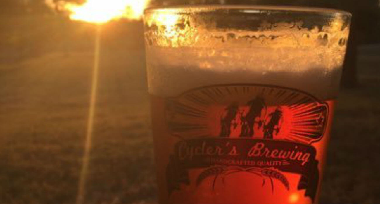 beer-chronicle-houston-craft-beer-review-ryed-hard-beer-glass-with-sunset