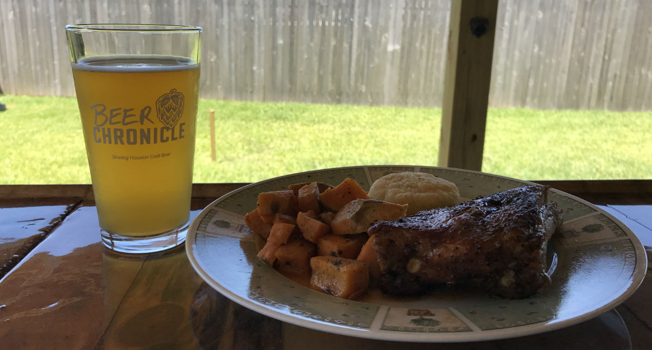 Beer-Chronicle-Houston-Craft-Beer-Review-Sams-Daily-Beer-Next-To-Smoked-Rib-Plate
