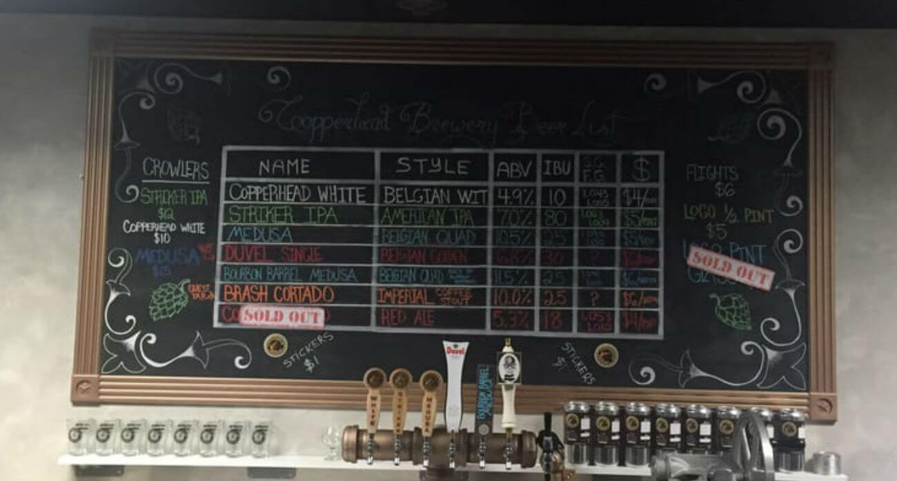 Beer-Chronicle-Houston-Craft-Beer-Review-Striker-IPA-Copperhead-Brewery-Taproom-Brew-List