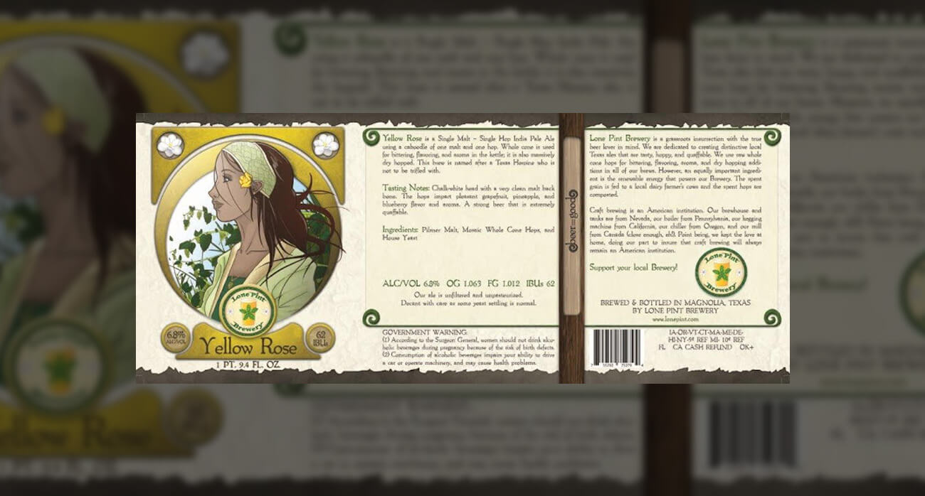beer-chronicle-houston-craft-beer-review-lone-pint-yellow-rose-ipa-label